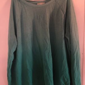 Forever 21 Teal ombré sweater 2x